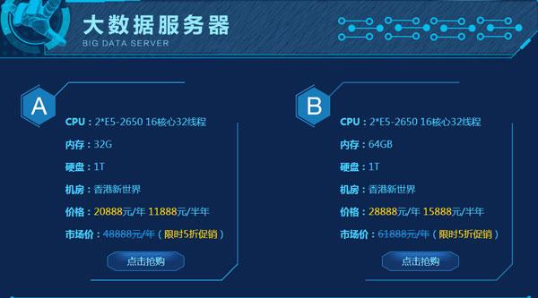 """香港DELL""""大数据""""顶配服务器直降50%,香港自建机房5M独享免费送"""