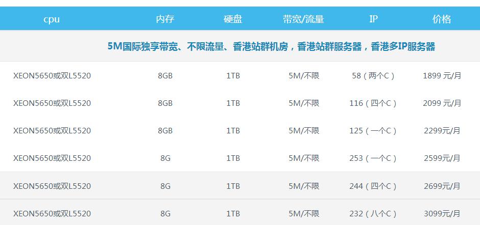 香港站群服务器价格