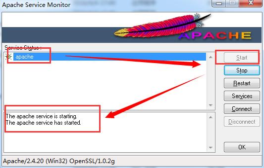 开启Apache服务