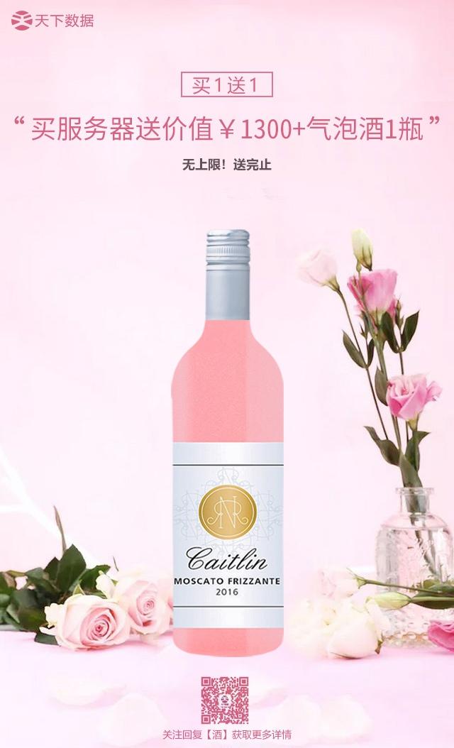 买服务器即送价值1300元气泡酒一瓶,买一台送一瓶!
